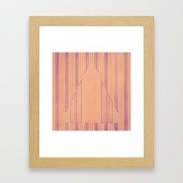 Strip to Stripe Me Down Framed Art Print