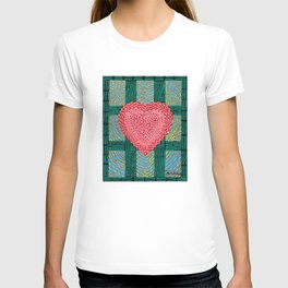 Teal and Pink Energy Heart T-shirt