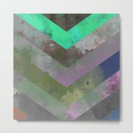 Look Down (Abstract, pastel, geometric artwork) Metal Print