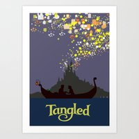 tangled Art Prints featuring Tangled by TheWonderlander