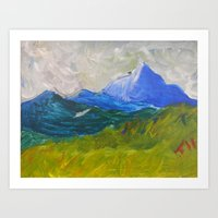Storm Over the Hill Art Print