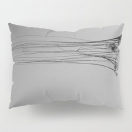 Black and White Jellyfish Art Photography, Drifting Through Time and Space Pillow Sham