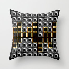 Abstract composition with squares Throw Pillow
