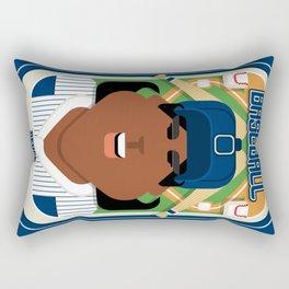 Baseball Blue Pinstripes - Deuce Crackerjack - Aretha version Rectangular Pillow