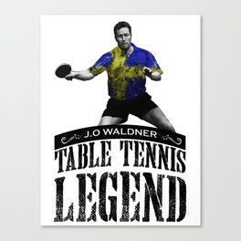 Jan Ove Waldner | Table Tennis Legend Canvas Print