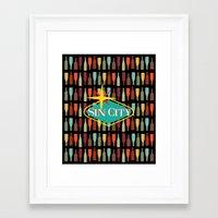 sin city Framed Art Prints featuring Sin City by Chelsea Dianne Lott