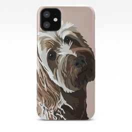 Scribbles (AKA Bibby) the Golden Doodle iPhone Case