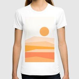 Abstract Landscape 09 Orange T-shirt