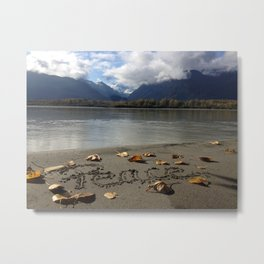 Peace by the River by Mandy Ramsey Metal Print