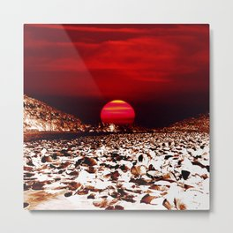 Landscape and Mars Metal Print