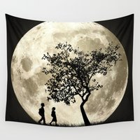 arnold Wall Tapestries featuring Full Moon by Phil Perkins