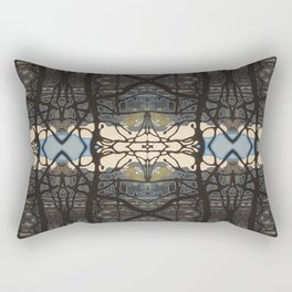 Detail: Warm Cloud Tangle Rectangular Pillow