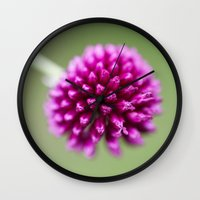 dragon ball Wall Clocks featuring Ball by John Murray/DarkStarImages