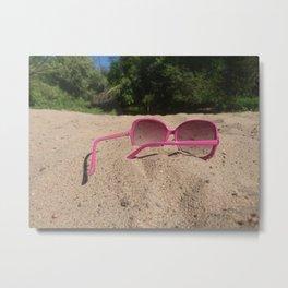 Look through pink glasses Metal Print