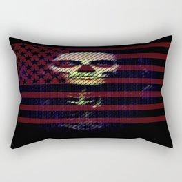 U.S.A SKULL Laptop sleave Rectangular Pillow
