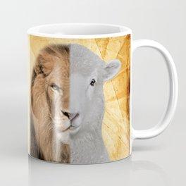 The Lion and the Lamb Yeshua Messiah Coffee Mug