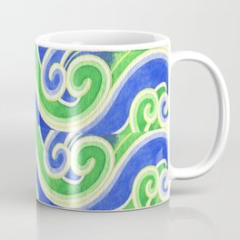 Blue-Green Waves Coffee Mug