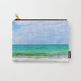 Waves Watercolr Carry-All Pouch