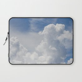 Fluffy Puffy Clouds in the Florida Sky Laptop Sleeve