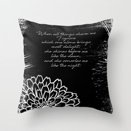 Charles Baudelaire - The Temptation - She consoles me like the night Throw Pillow