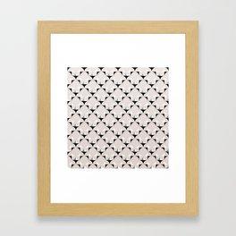 Mod Cream Framed Art Print