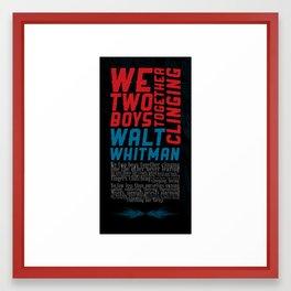 We Two Boys Framed Art Print