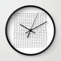 shit Wall Clocks featuring shit by edoardo de falchi