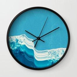 Blue Tide Wall Clock