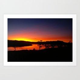 Ash Cloud Sunset  Art Print