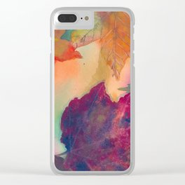 Falling Autumn Leaves in New England Clear iPhone Case