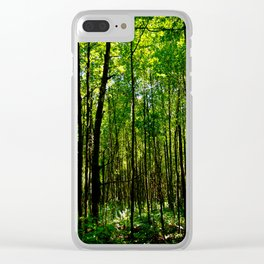 Green breeze Clear iPhone Case