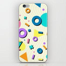 90s Geometric Pattern iPhone Skin