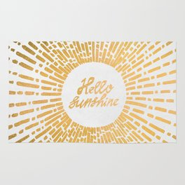 Hello Sunshine Gold Rug