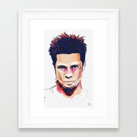 tyler spangler Framed Art Prints featuring Tyler by Brito78
