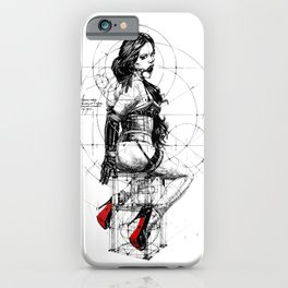 Love and Geometry. INK ART. Yury Fadeev iPhone Case