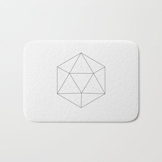Black & white Icosahedron Bath Mat