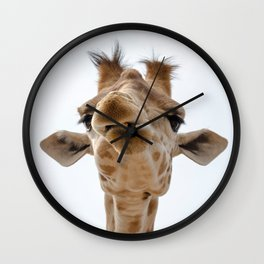 Love me - love my giraffe Wall Clock