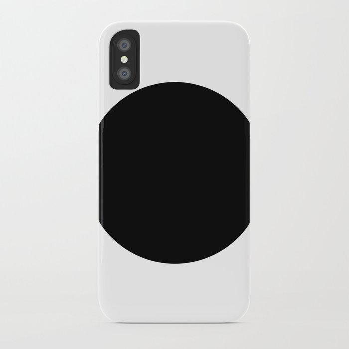 The Circle – Black iPhone Case
