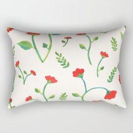Lush Poppies Rectangular Pillow