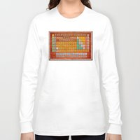 periodic table Long Sleeve T-shirts featuring Vintage Industrial Periodic Table Of The Elements by Mark E Tisdale