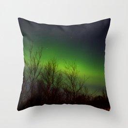 Arctic Lights Throw Pillow