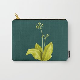 Wild Garlic Plant Botanical Art In Green Carry-All Pouch