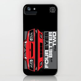 Four Eyes are Better than Two iPhone Case