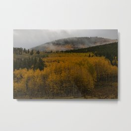 Fog over Kenosha Pass Metal Print