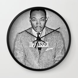 Martin Luther King Mugshot Jr Wall Clock