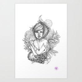 Modern Modesty Art Print
