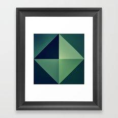 3D green wallart Framed Art Print