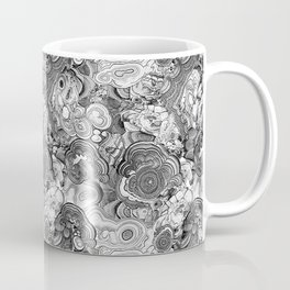 Malachite black and white Coffee Mug