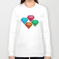 diamonds Long Sleeve T-shirts featuring Diamonds by Andrew Leif Hanssen