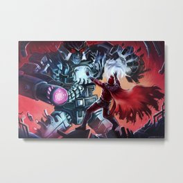 Magneto vs Megatron Metal Print